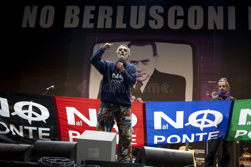 Kein Berlusconi Tag, Rom 5/12/09 stockbilder