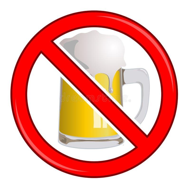 Kein Bier-Zeichen lizenzfreie abbildung