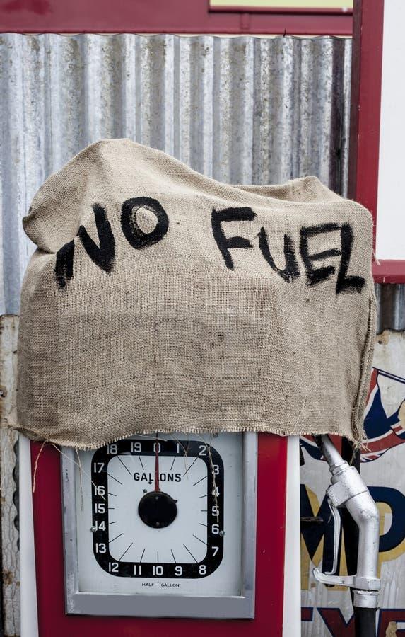 Kein Brennstoff. stockfoto