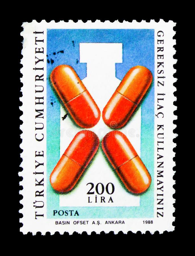 Kein Drogenmissbrauch, Poststempel, 1988, Gesundheit serie, circa 1988 stockfotos