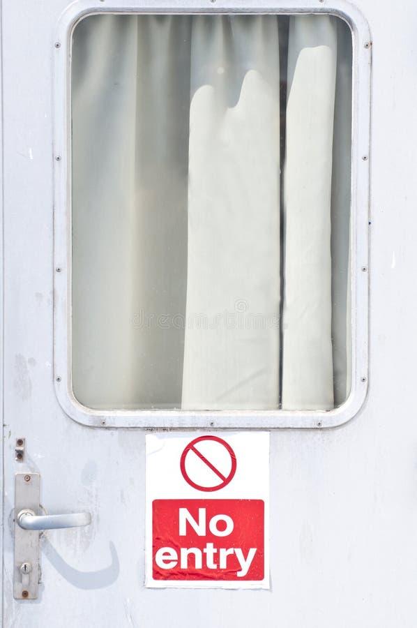 Kein Eingangst?r-Zeichen lizenzfreie stockfotos