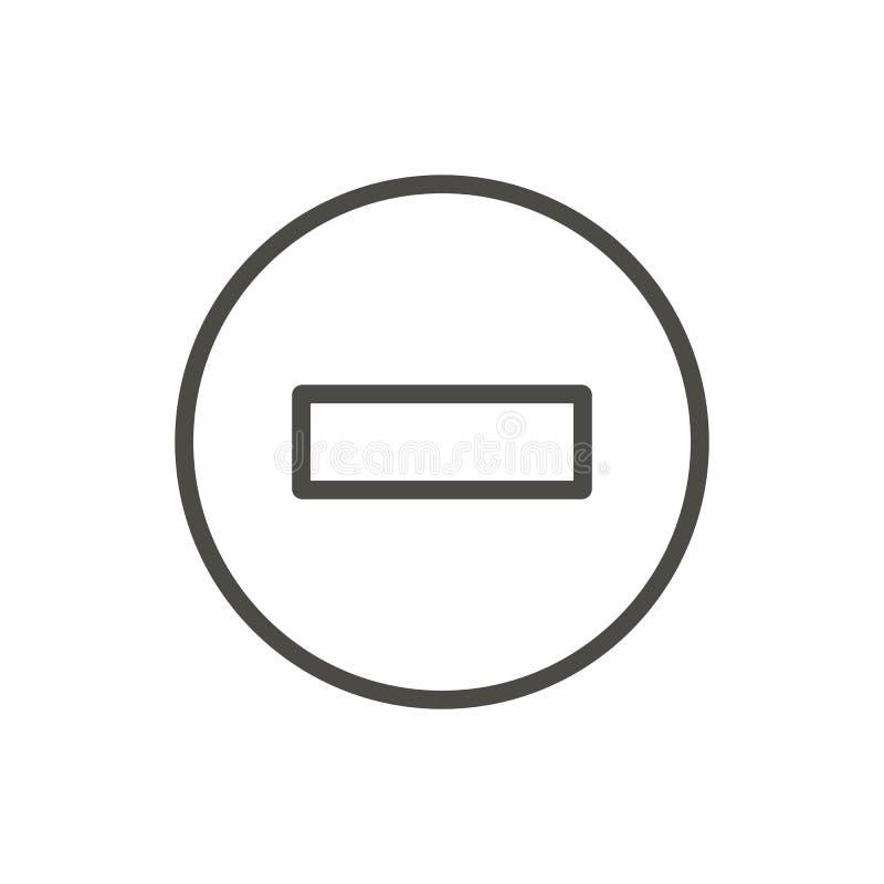 Kein Eintrittsikonenvektor Linie Endstraßensymbol lokalisiert Modisches flaches Entwurf ui Zeichendesign Dünne Linie stock abbildung