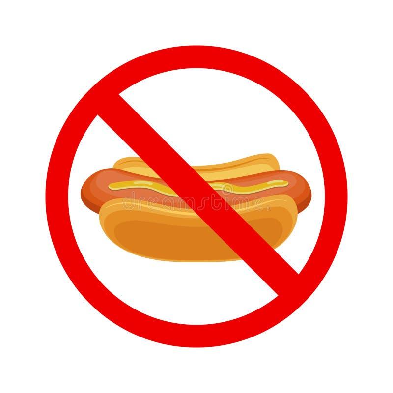 Kein Fastfoodzeichen vektor abbildung