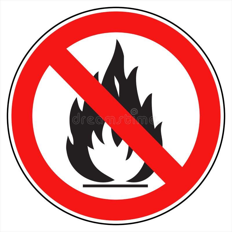 Kein Feuer stock abbildung