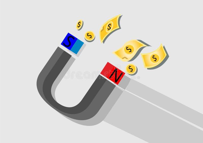 kein Geld der Magnet lizenzfreies stockbild