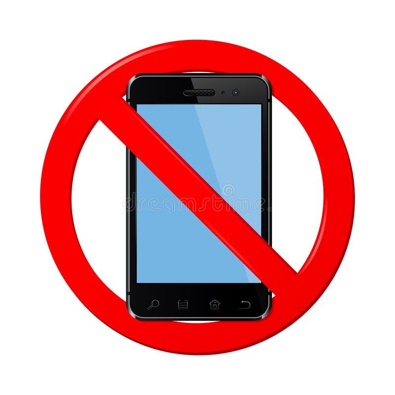 Kein Handyzeichen stock abbildung
