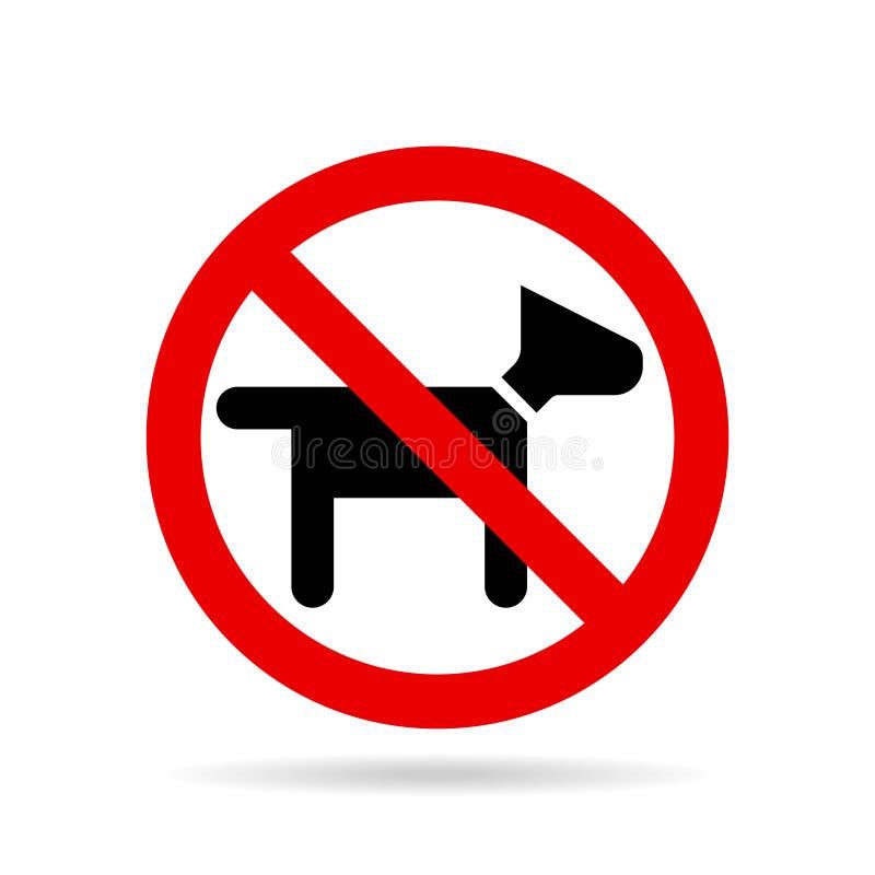 Kein Hundeikonenvektor vektor abbildung