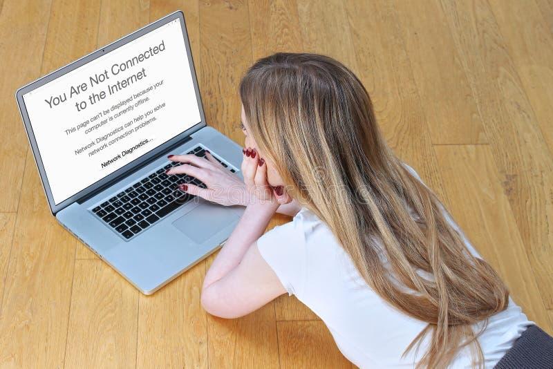 Kein Internetanschluss lizenzfreies stockfoto