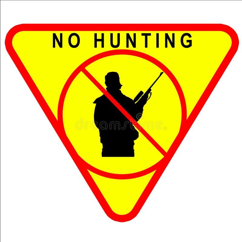Kein Jagd-Zeichen lizenzfreie abbildung