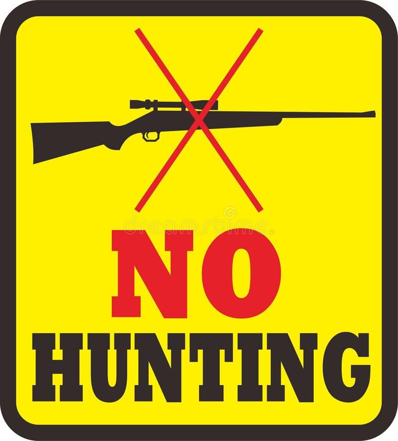 Kein Jagdbereich vektor abbildung