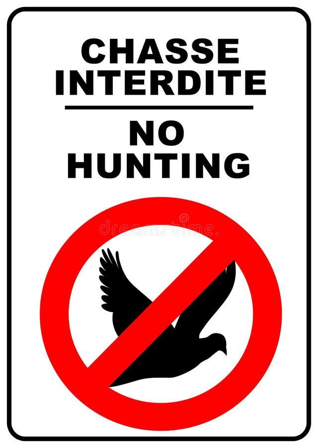 Kein Jagdzeichen stock abbildung
