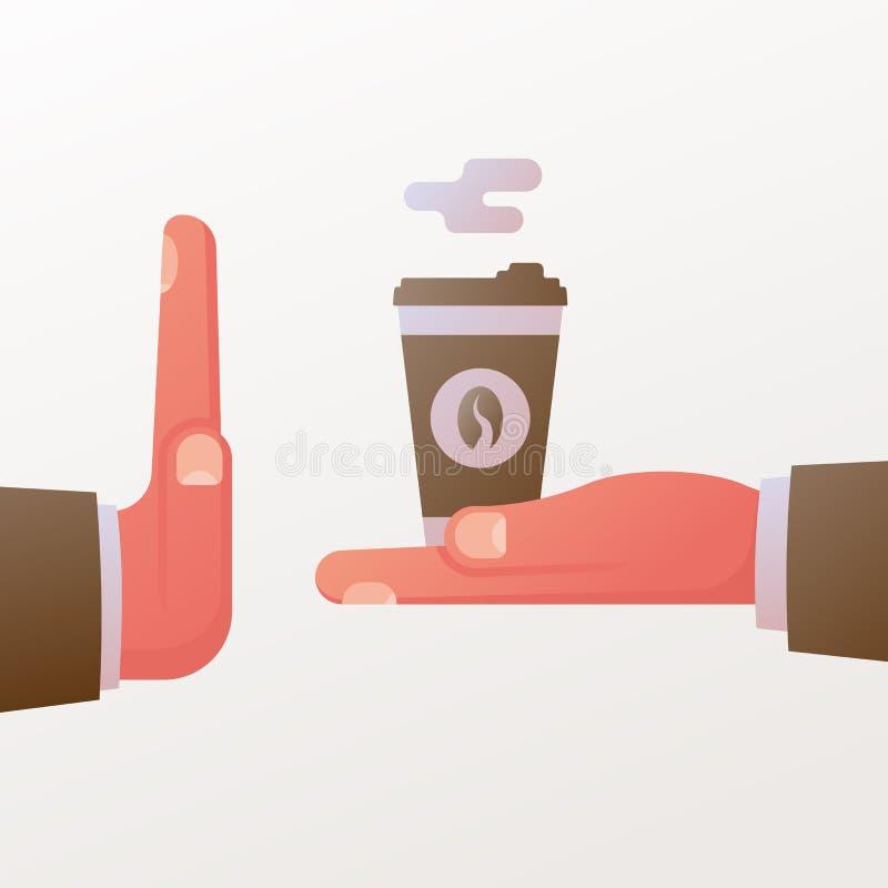 Kein Kaffee E stock abbildung