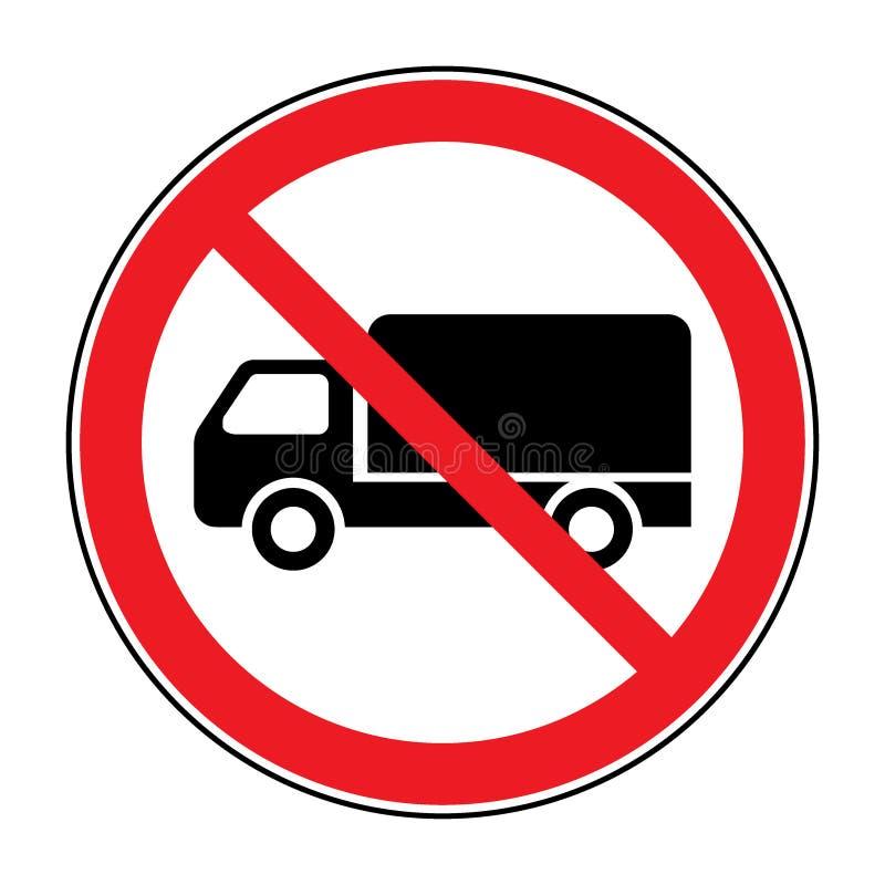 Kein LKW-Zeichen vektor abbildung