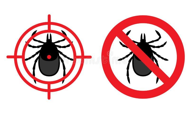 Kein Milbenzeichen Vektorillustration für Vorbereitung gegen harmf stock abbildung