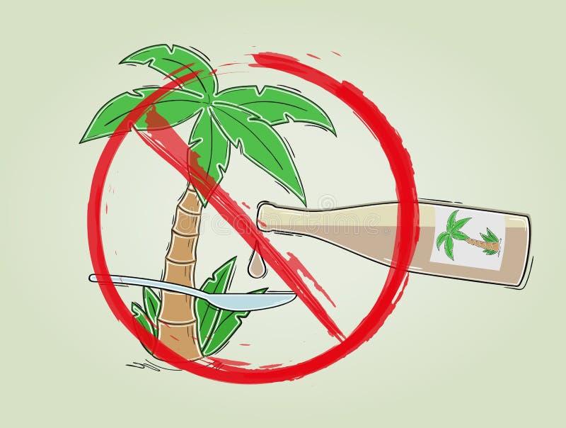 Kein Palmölzeichen stock abbildung