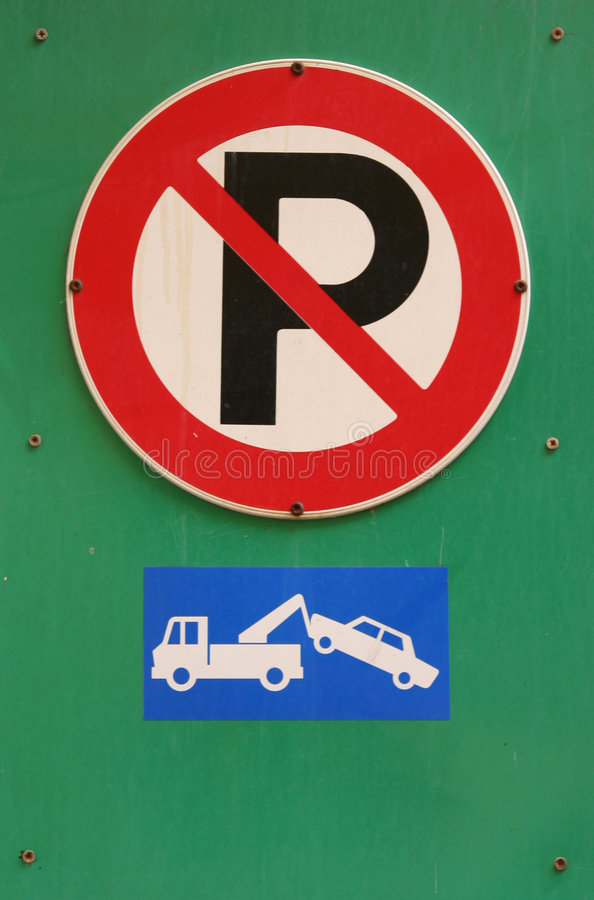 Kein Parken stockfotos