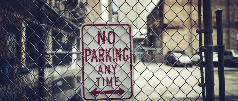Kein Parken zu jeder Zeit lizenzfreies stockfoto