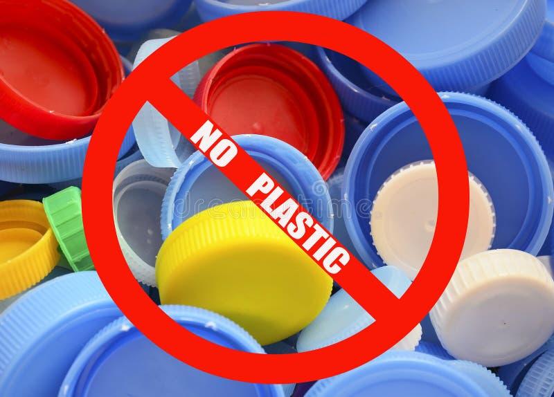kein Plastik Verschmutzungsproblem, Umweltschutz, Konzept aufbereitend lizenzfreie stockfotos