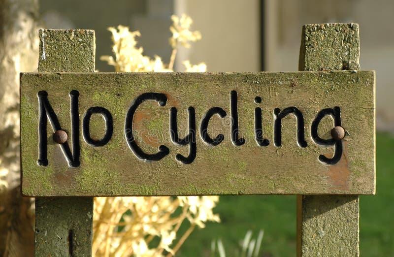 Kein Radfahren stockbild