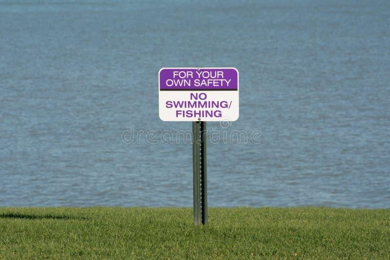 Kein Schwimmenzeichen stockfotos