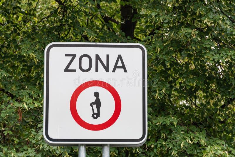 Kein Segeln - Geräte für die persönliche Mobilität verboten stockbild