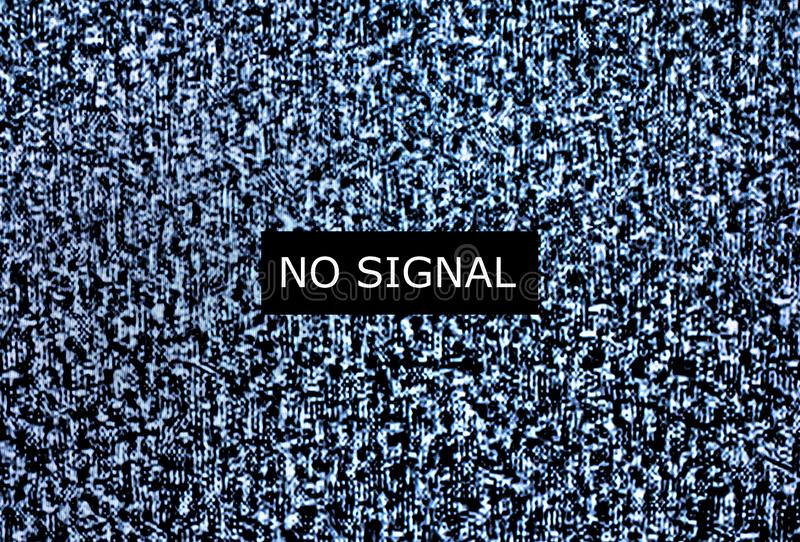 Kein Signal zu überwachen lizenzfreie stockfotos
