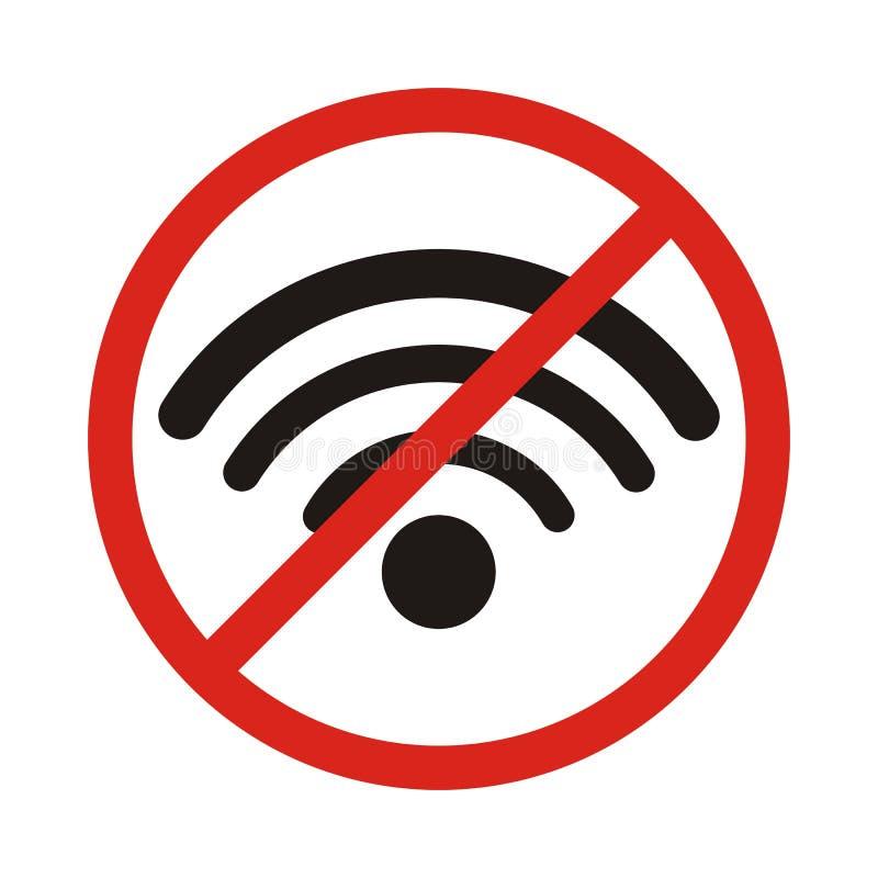 Kein Signalzeichen, kein Signalbereich Kein wi-FI-Bereich lizenzfreie abbildung