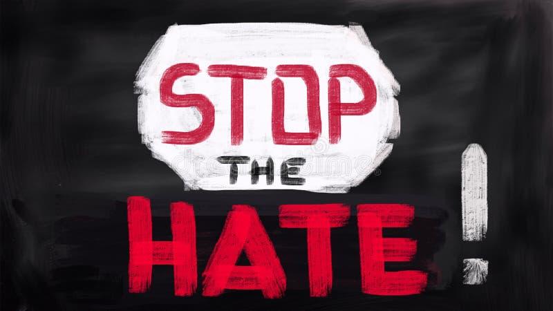 Kein Terror-Konzept, stoppen den Hass stockbild