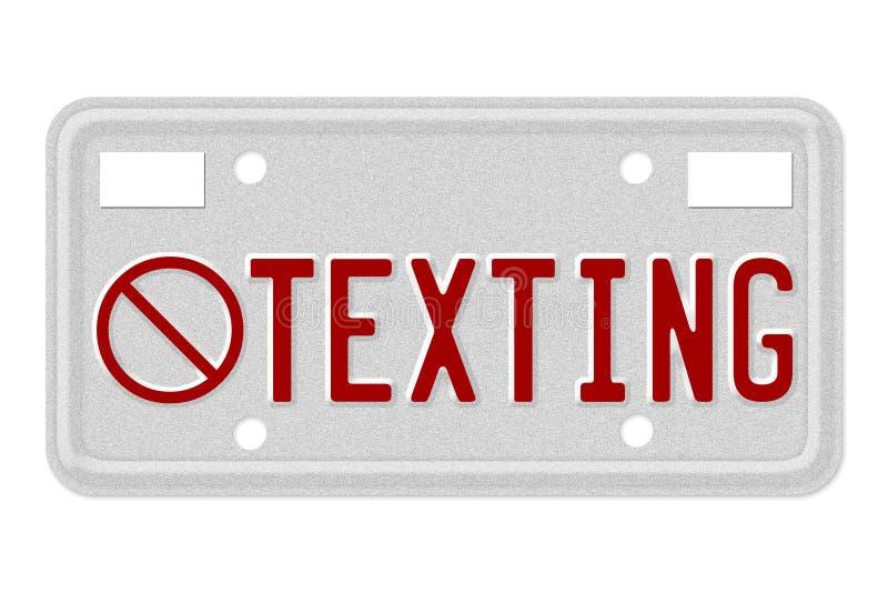 Kein Texting beim Antreiben stock abbildung