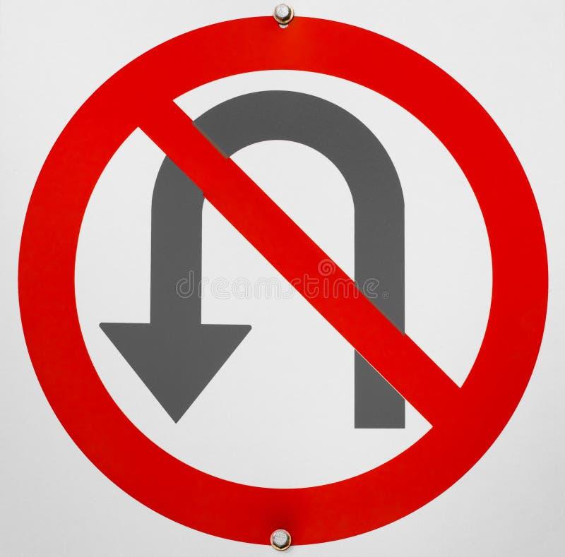 Kein u-Drehungs-Zeichen stockbilder