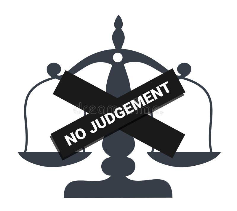 Kein Urteil/kein Urteil stock abbildung