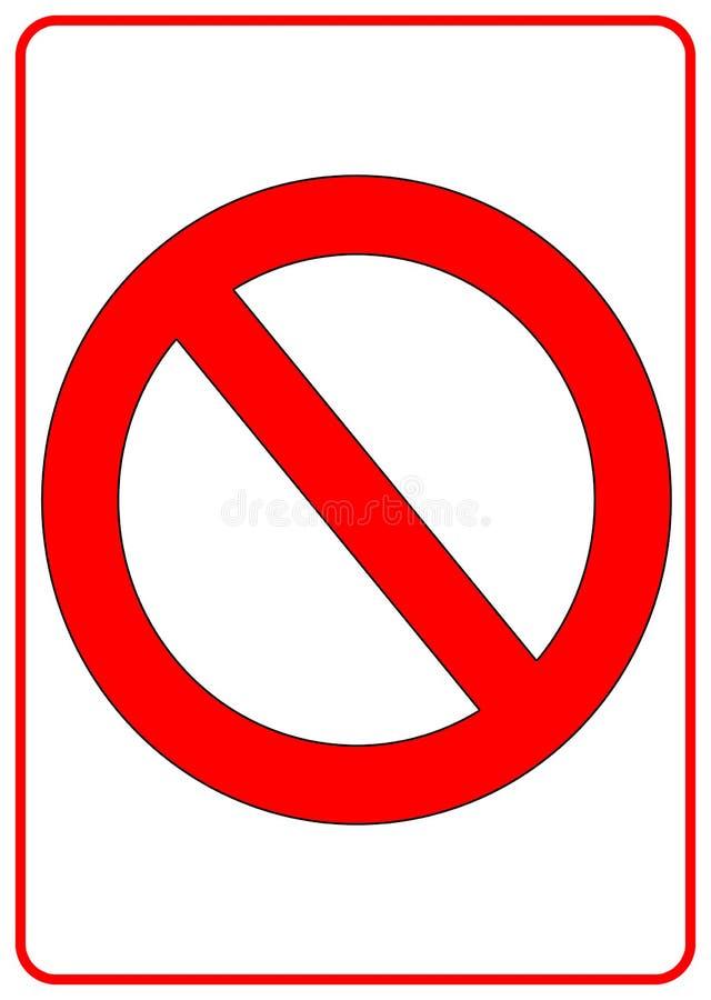 Kein Zeichen lizenzfreie abbildung