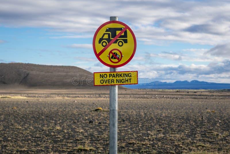 Kein Zeichen herein Island lizenzfreies stockbild