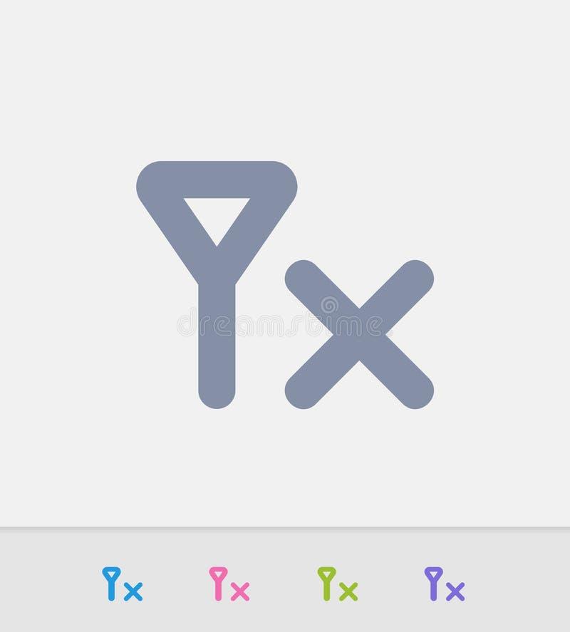 Dichte Granit keine aufnahme granit ikonen vektor abbildung illustration