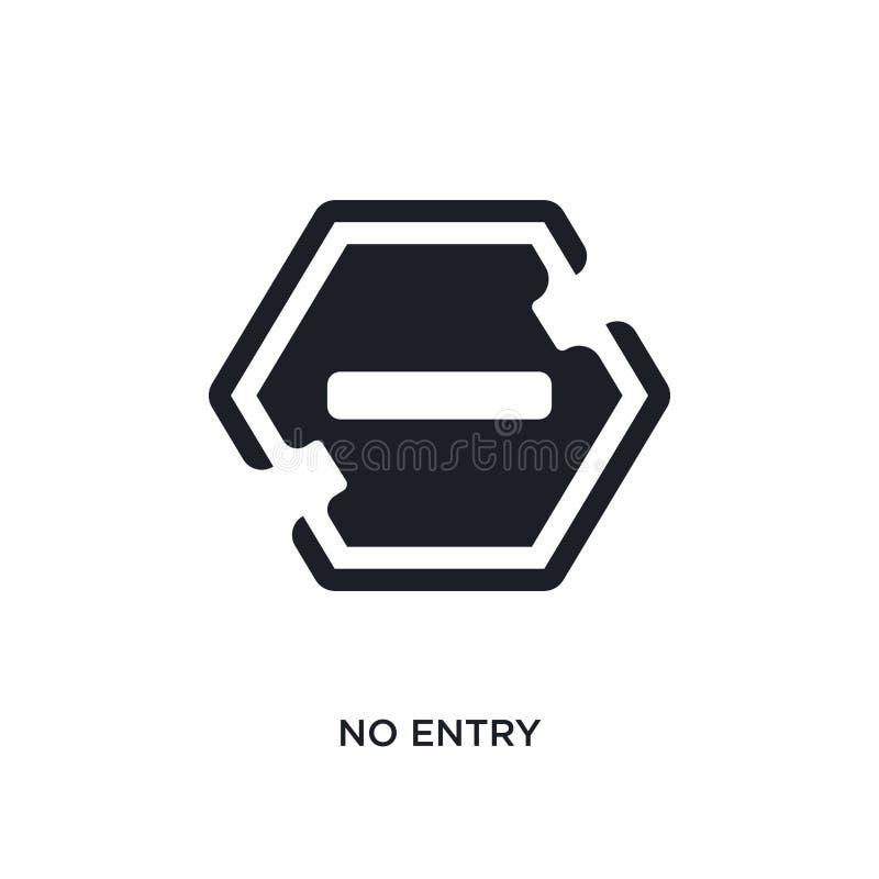 keine Eintritt lokalisierte Ikone einfache Elementillustration von den Zeichenkonzeptikonen kein Logozeichen-Symbolentwurf des Ei stock abbildung