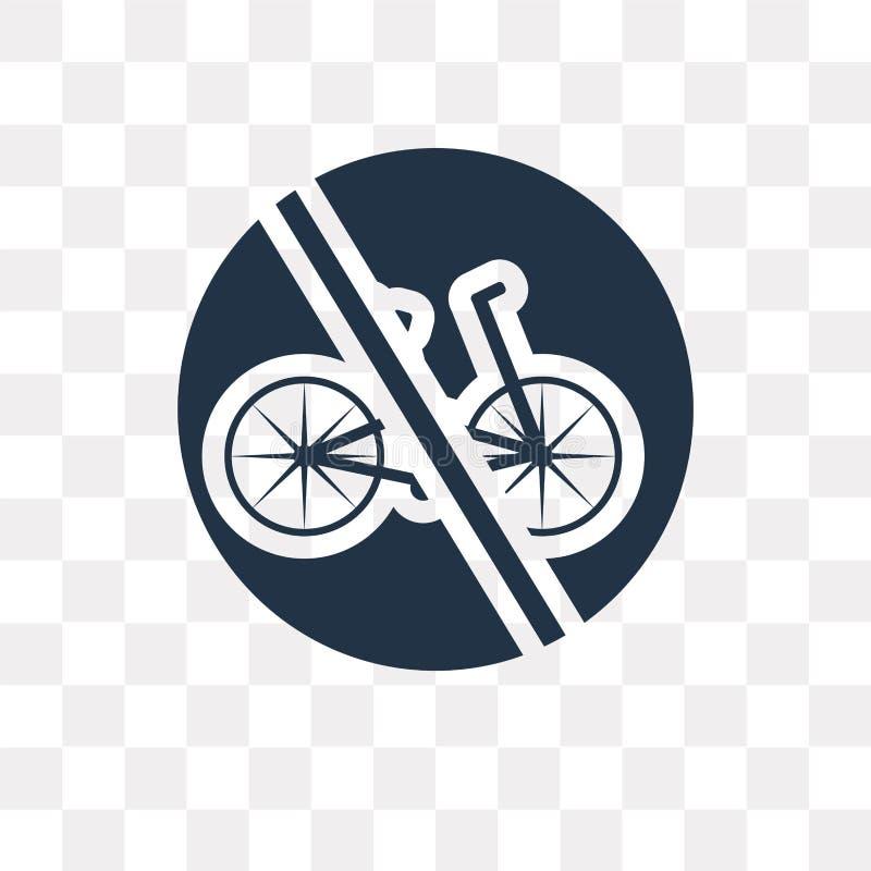 Keine Fahrradvektorikone lokalisiert auf transparentem Hintergrund, kein Bi lizenzfreie abbildung