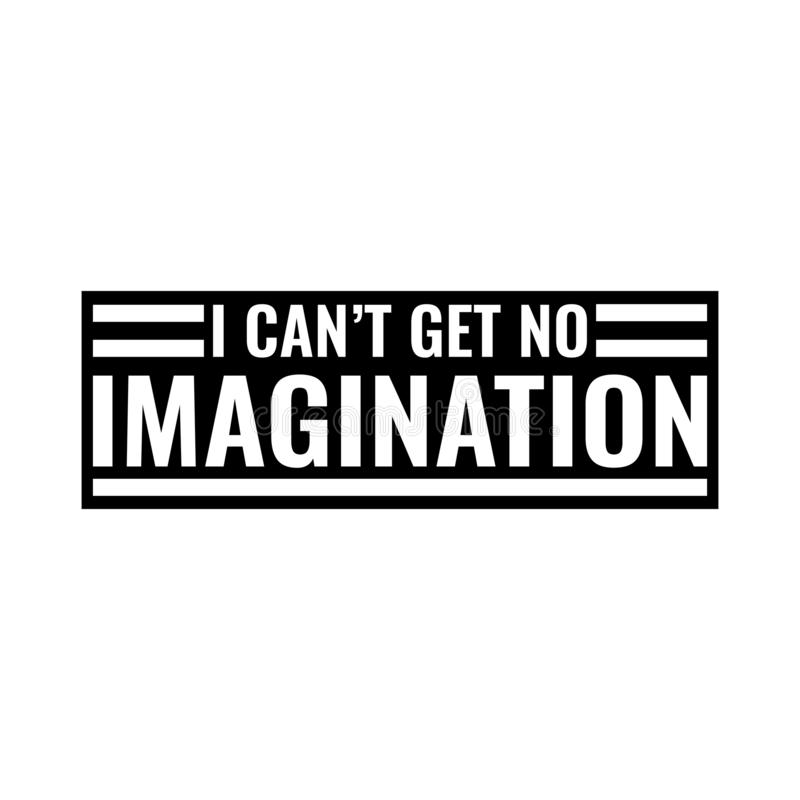 Keine Fantasie lizenzfreies stockbild