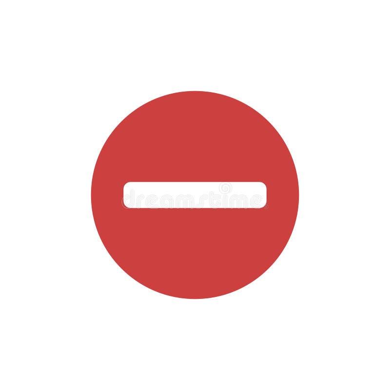 Keine flache Ikone des Eintritts stock abbildung