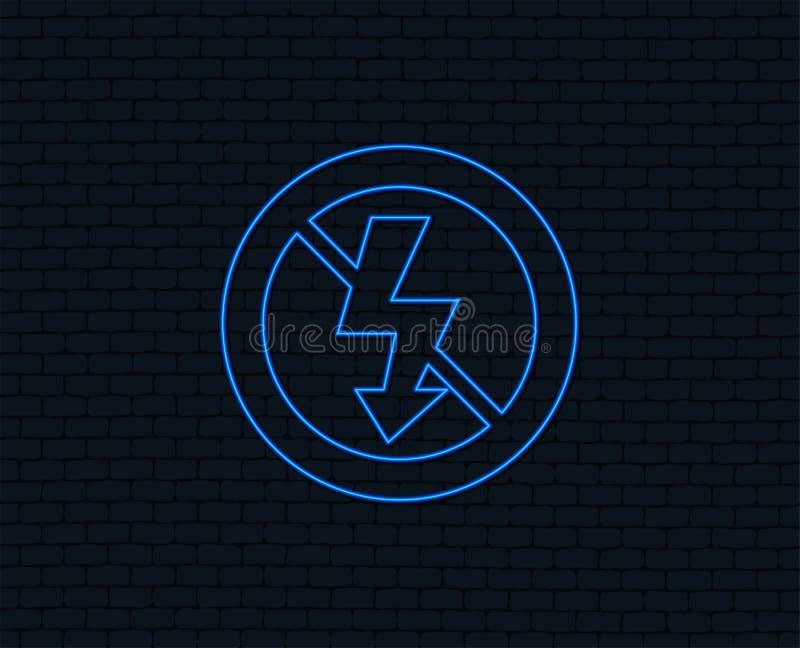 Keine Fotoblitz-Zeichenikone Blitzsymbol lizenzfreie abbildung