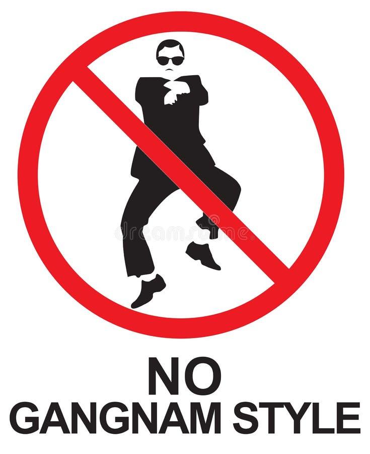 Keine Gangnam-Art lizenzfreie abbildung