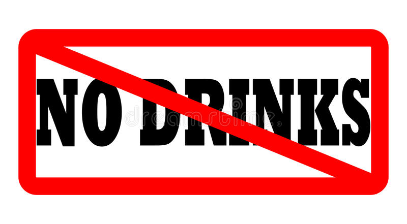 Keine Getränke erlaubt lizenzfreie abbildung