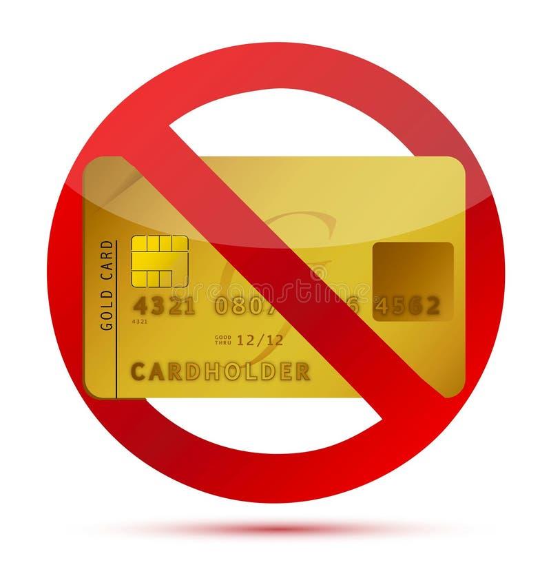Keine Gutschrift oder Kreditkarten nicht erlaubt stock abbildung