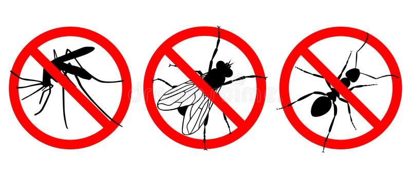 Keine Insekten Kennzeichnen Sie Set vektor abbildung