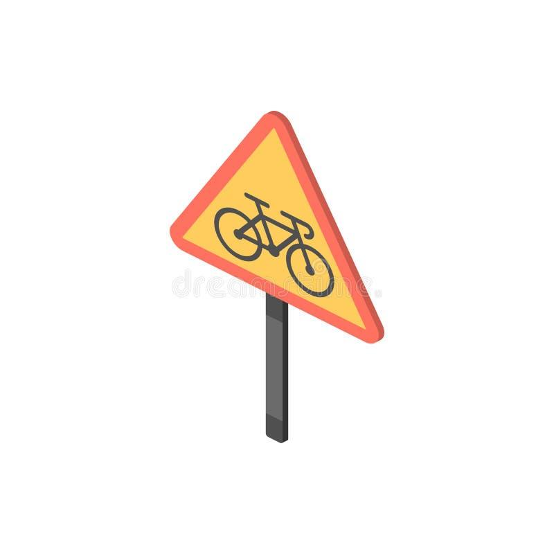 Keine isometrische Ikone der Zyklen Element Farbder isometrischen Verkehrsschildikone Erstklassige Qualitätsgrafikdesignikone Zei stock abbildung