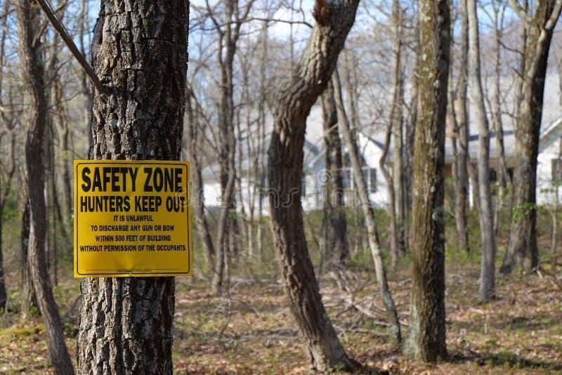 Keine Jagd-Zone stockfotos