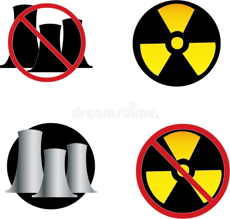 Keine Kernkraft lizenzfreie abbildung