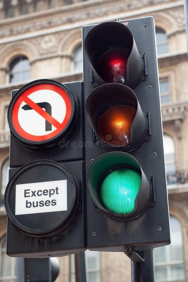 Keine linke Kurve stockbild