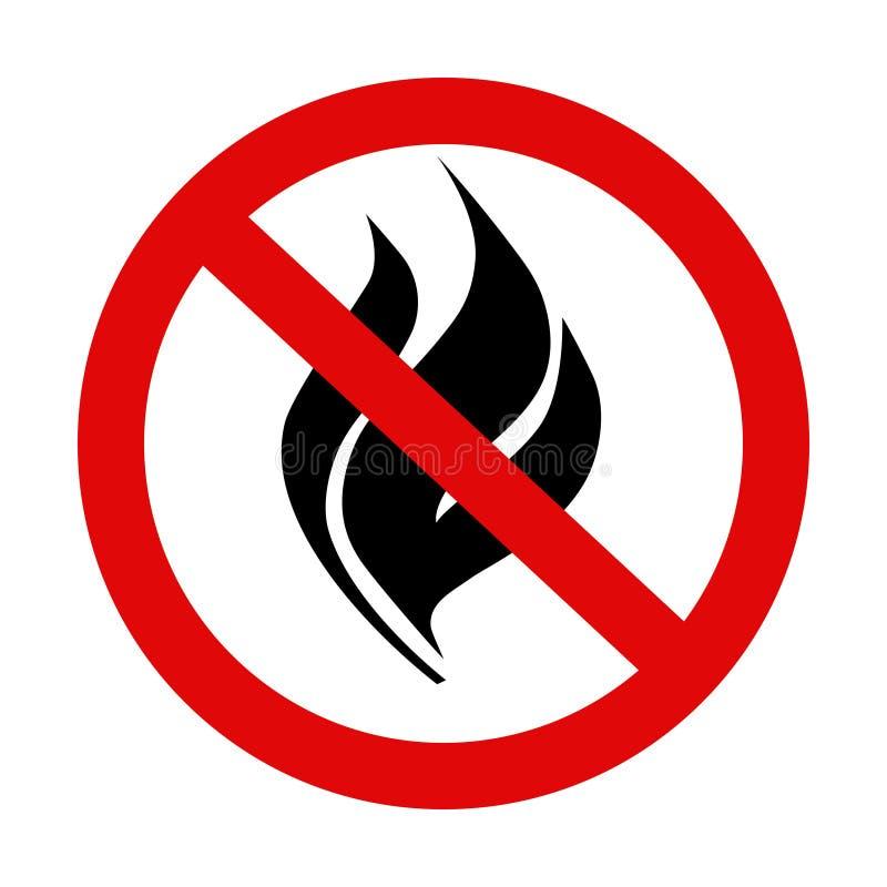 ` Keine offene keine Feuer ` Ikone 2 lizenzfreie abbildung