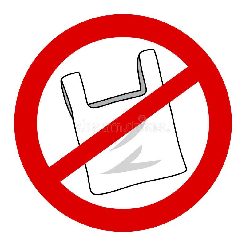 Keine Plastiktaschekampagne stockfotografie
