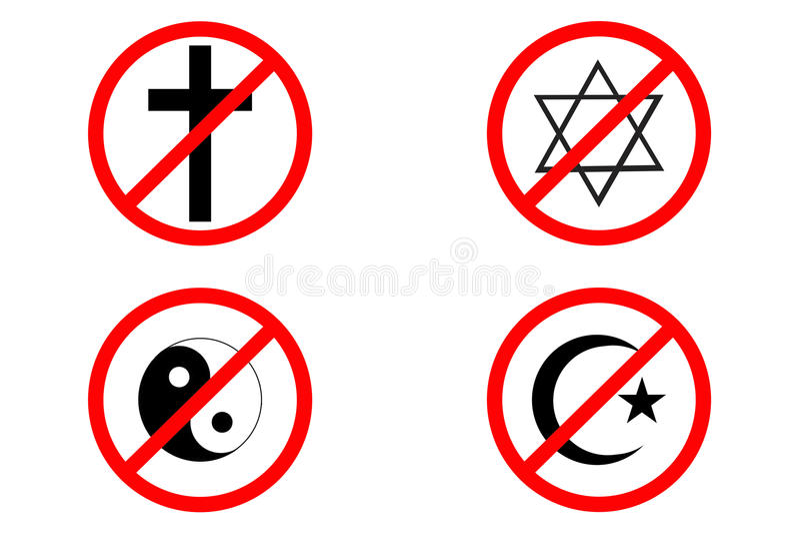 Keine Religion vektor abbildung